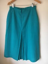 Skirt Size 16 Turquoise Lined Polyester Mix St Michael <T13767