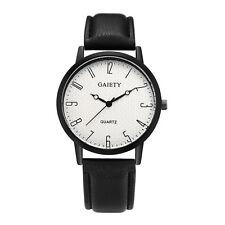 Damen Einfach Armbanduhr Armband Uhr Leder Edelstahl Analog Quarz Damenuhr Mode