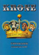 Circus Krone: Programm Februar 1987