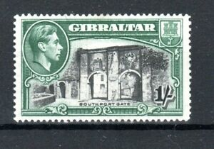 Gibraltar 1938 1s Southport Gate perf 14 MH