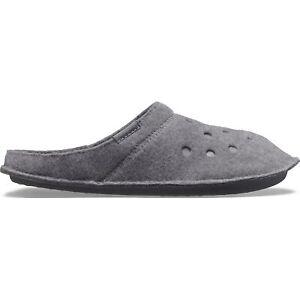 Crocs 203600 CLASSIC SLIPPER Unisex Warm Lined Fuzzy Mule Slippers Charcoal