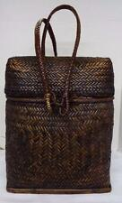 HANDMADE BACKPACK BASKET ASIAN WICKER CONTAINER BONTOC BAMBOO RATTAN
