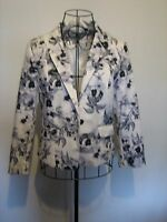 A LOVELY STYLISH WOMEN'S H&M FLORAL JACKET  SIZE 10-12 LENGTH APPROX 24 INCHES
