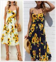 AU SELLER Cotton 50'S Vintage Rockabilly Retro Swing Sun Floral Dress dr192