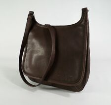 Fossil Leather Crossbody Handbag Purse Messenger Bag Brown