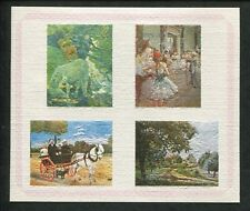 Lot of 4 -1972 Bhutan Airmail Postage Stamp Souvenir Sheets#144Gi Painting Issue