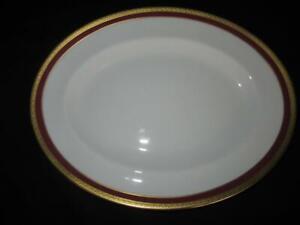Coalport Elite - Ruby Pattern Oval Serving Platter 14.25 inches