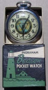 EARLY NOS DODGE BROTHERS AUTOMOBILES POCKET WATCH IN ORIGINAL BOX SUPER RARE