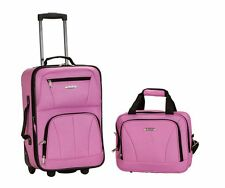 Rockland F102 2 Piece Luggage Set Polyester Travel Carry on Trip