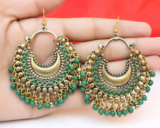 Indian Ethnic Oxidized  Antique Gold Earring Set Jhumka Jhumki Fashion Jewelry