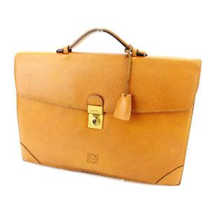 Loewe Business bag Monogram Mini Agenda Beige Gold Woman Authentic Used T2009