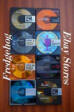 8 x TOP QUALITY 74 MINUTE BLANK MINIDISCS - ASSORTED BRANDS - ALL WITH CASES