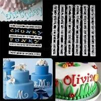 6Pcs Alphabet Number Letter Cutter Cake Cookie Pastry Embossed Stamp Tool Mold W