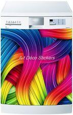 Sticker Lave vaisselle REPOSITIONNABLE Couleurs 60x60cm Réf 243