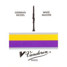 """Vandoren White Master"" DEUTSCHE KLAR.  LOTTO DI 5 ANCE CLARINETTO SIb     3.5"