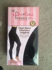 Genie Women's High Waist Seamless Slim & Tone Leggings Black NIB