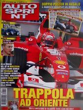 Autosprint 11 2003 Doppio Poster Manifesto Segnapunti Mondiale e F1 2003