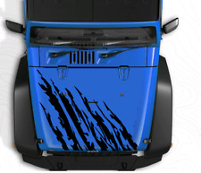 Jeep Warrior Hood-Vinyl Decal Set for Jeep Wrangler, Vehicles, Custom Graphics