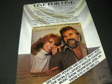 KENNY ROGERS and DOTTIE WEST are ONE FOR ONE 1978 Promo Display Ad mint cond