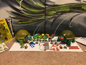 Teenage Mutant Ninja Turtles Micro Mutant Lot Leonardo's Dojo Playsets Vehicles