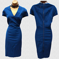 M&S Per Una Speziale Blue V-Neck Bodycon Cocktail Dress with Modal 18 UK/RRP £89