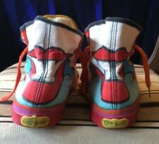 Peter Max Tennis Shoes Sneakers Hi Tops Vintage 1970's Rare Nice Condition