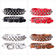 Collar Toy Puppy S-XXS Puppy Small Dog Spiked Studded Rivets Pet Faux PU Leather