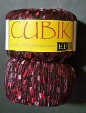 """2 FILATI FF """"CUBIK"""" Like Plymouth Eros II Novelty Ribbon Ladder Pinks 50g/165yd"""