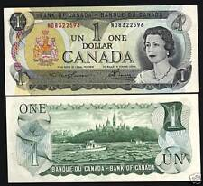 CANADA $1 DOLLAR P85 A 1973 YOUNG QUEEN SHIP UNC CURRENCY PAPER MONEY BANKNOTE