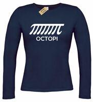 Ladies Octopi Funny Math Science Teacher Long sleeve T Shirt womens top gift