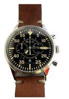 Orologio Uomo Cronografo Vintage Acciaio Militare Subacqueo Quarzo MEC Military