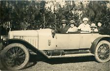 Voiture d'époque. Vintage car  Vintage silver print. Postcard paper  Tira