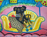 MINIATURE PINSCHER Retro Pop Art Print 8x10 Dog Collectible Vintage Style 80's
