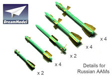 Dreammodel 0532 1/72  Detail Update PE for Russian Air-to-Air Missile AAMs