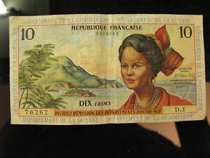 billet de 10 francs institut d'émission des départements d'outre-mer