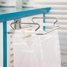 Cabinet Door Stainless Steel Garbage Bag Kitchen Towel Hanging Holder Storage