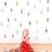 Pine Tree Nordic Woodland Wall Sticker Nursery Kids Room Wall Mural Decor Vinyl