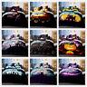 3D Halloween Witch Bat Pumpkin Grim Reaper Quilt Cover Bedding Set Pillow Case