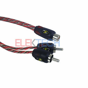 """Stinger SI42YM 1 ft 1-Female to 2-Male """"Y"""" Adapter Splitter Cable Stereo RCA"""