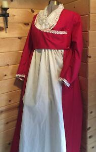 19th Century Jane Austen Regency Pride & Prejudice Emma Empire Waist Gown Custom