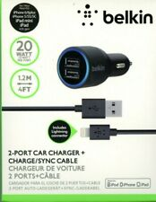 For iPhone 4s 5 5S 5C USB Micro Auto Car Charger 12V 2.1A Belkin Charge Quickly