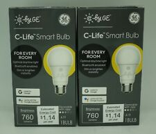 2 x GE C-LIFE (A19/DIMMABLE) SMART WIFI LIGHT BULB **BRAND NEW in RETAIL BOX!!