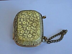 Ladies ornate brass pill or perfume box