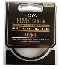 NEW Genuine HOYA 55 mm UV(0) HMC SUPER MULTI-COATED GLASS FILTER