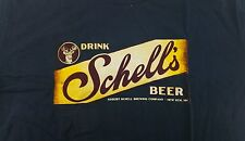 Brand New Dark Blue Schells Brewing Beer Shirt Size Small Fast Free Shipping!!