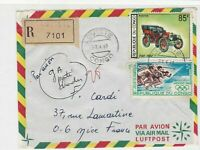 Rep Du Congo 1969 Regd Airmail Loutete Cancels Olympic+Car Stamps Cover Rf 30666