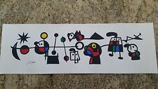 "Joan Miro Serigraph Unframed  35"" x 11 1/2"""