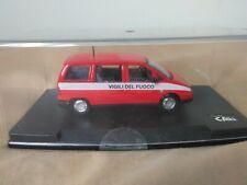 Antigua miniatura 1:43 Scale Carr PR203 Fiat Ulysse Bomberos Italianos.
