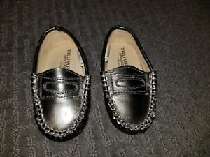 LNC Trumpette Baby Unisex Boys / Girls 6-12 Months Pewter Baby Loafer Shoes