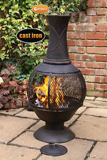 Opera large chimenea 100cm high garden patio heater fire woodburner cast iron